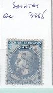 CHARENTE - S/29 - 20c Bleu - Napoleon III Lauré  - Oblit  GC  3265 (    Saintes  ) - Marcophilie (Timbres Détachés)
