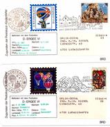 4 Lettres_Ballon Post_ERGEE VI_Weihnachts Christkindel 1977, 1979,1981,1980_Autriche - Lettres & Documents
