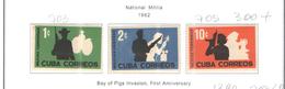 Cuba 1962 Militia Naz. Scott.703/705+See Scan - Nuovi
