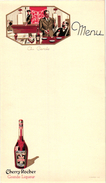 1 MENU CARD Pub Cherry Rocher Biljart Billiards Billard Imp Watton  Illustr Jan - Billard