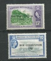 Honduras Britannique  Yvert N° 164 Et 165 *   Abc19802 - Britisch-Honduras (...-1970)