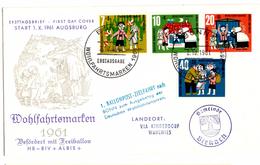 Lettre De Bonn (02.10.1961) Pour Birkach Ballonpost Augsburg Wohlfahrtsmarken Hänsel Gretel - Europe