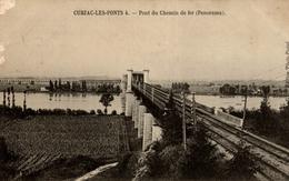 CPA Cubzac-les-Ponts Pont Du Chemin De Fer (panorama) - Ferrovie