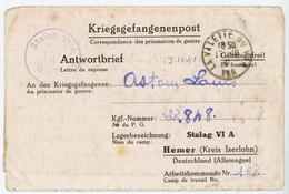 VAR CLFM PRISONNIER 1941 LA VALETTE DU VAR => STALAG VI A = HEMER ISERLOHN  ( MUNSTER ) ALLEMAGNE - 1921-1960: Moderne