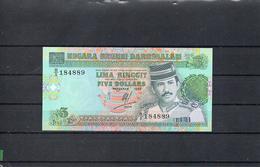 BRUNEI 1995, 5 RINGGIT, PK-14a, SC-UNC, 2 ESCANER - Brunei
