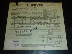 """12 BORDEREAUX DE 1961 à 1968 DE TRANSPORTS AVEC TIMBRE FISCAL ESTAMPILE """"CONTROLE"""" - DOCUMENT (2) - Transports"""