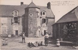JUIGNE Sur LOIRE ( M. Et L. ) - Château Du Plessis Route D'Erigné à Brissac. Personnages, Enfants.( Carte Animée ). - France