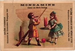 1 Card Pub Mondamine  C1886  Litho APPEL   BILJART   Billard  Children Playing  Billiards - Billares