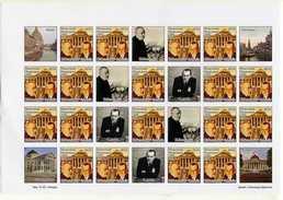 Alekhine Bogoljubov Match 1929 1934 Vignettes Sheet Of 20 Ukraine 2014  CHess Scach Ajedrez Echecs - Chess