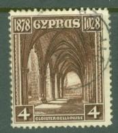 Cyprus: 1928   50th Anniv Of British Rule   SG127   4pi      Used - Cipro (...-1960)