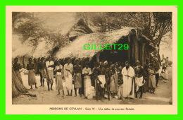 MISSIONS  DE CEYLAN SÉRIE VI - UNE ÉGLISE DE PAUVRES PARIAHS - MISSIONNAIRES OBLATS DE MARIE-IMMACULÉE - - Missions