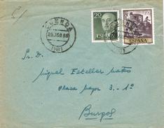 23373. Carta CUENCA 1958 A Burgos. Sello Goya - 1931-Aujourd'hui: II. République - ....Juan Carlos I