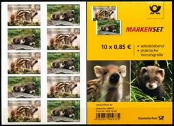 BRD - 5x Michel 3293 / 3294 Gestanzt Folienblatt FB 64 - ** Postfrisch - 85-85C  Tierkinder, Ausgabe 01.03.201 - Unused Stamps