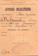 CARTE UNION DEPARTEMENTALE DES SOCIETES DE SECOURS MUTUELS DE LA HAUTE VIENNE EN 1930 - Non Classés