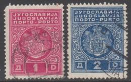 YOUGOSLAVIE 1931 2 TP Taxe N° 79A Et 80A Y&T Oblitéré - Timbres-taxe