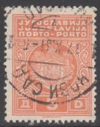YOUGOSLAVIE 1931 1 TP Taxe N° 81B Y&T Oblitéré - Timbres-taxe