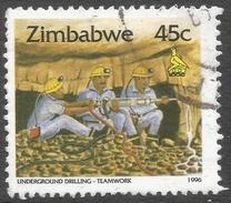 Zimbabwe. 1995 Zimbabwe Culture. 45c Used. SG 896a - Zimbabwe (1980-...)