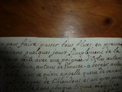 Années 1800 : REMEDE Pour Faire Passer Tous Les Flux Avec De La Tisane Faite Avec Une Poignée D'ORTIES Et.. - Manuscripts