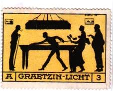 2 Cards Pub Chocolat De Guyenne   Poster Stamp Graetzin -Licht - Biljart
