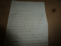 Années 1800 : RECETTE Pour Blanchir Et Débrouiller Le FILLET DE SOIE  (filet De Soie) - Manuscritos