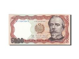 Pérou, 5000 Soles De Oro, 1976-1977, KM:117c, 1985-06-21, NEUF - Pérou