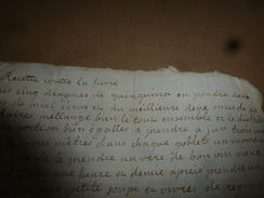 Avant L'année 1800 RECETTE  (remède) Contre La FIEVRE - Manuscripts