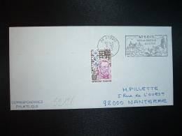 LETTRE TP LOUIS PASTEUR 0,50+0,10 OBL.MEC.6 10 1973 ARBOIS (39 JURA) PAYS DE PASTEUR - Louis Pasteur