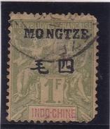 Mong Tzeu N° 15 Oblitéré En L'état - Mong-tzeu (1906-1922)