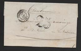 Tarn Et Garonne - Cachet Type 15  CAUSSADE + Taxe 25  Sur Lettre De 1851 - 1849-1876: Klassieke Periode