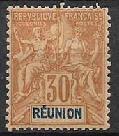 Réunion 1893  -  N° YT 40  Neuf *  Quasi ** - Réunion (1852-1975)