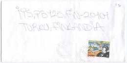 1996 CORTO MALTESE  L. 850 ISOLATO 22.11.96 BUSTA X FINLANDIA RARA DESTINAZIONE (8039) - 6. 1946-.. Repubblica