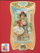 Savon Le Chat Belle Chromo Osselet Calendrier 1904 1905 Pays Turquie Jeune Femme Turque Panier De Linge - Trade Cards