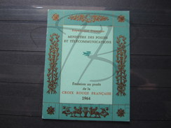 BEAU CARNET CROIX ROUGE DE FRANCE , N° 2013 (1964) , XX !!! - Carnets