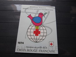 BEAU CARNET CROIX ROUGE DE FRANCE , N° 2023 (1974) , XX !!! - Booklets