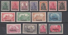 Danzig 1920,15V,set,Mi 1-15,Freimarken Mit Aufdruck Danzig,postfrisch Mit Falz(D2515) - Danzig