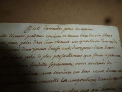 Avant L'année 1800 : RECETTE De PÂTE D'AMANDE POUR LES MAINS - Vieux Papiers