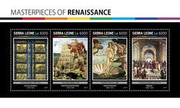 SIERRA LEONE 2017 - Renaissance: Bruegel, Botticelli, Raphael. Official Issue. - Art
