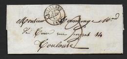Tarn Et Garonne - Cachet Type 15  AUVILLARS  Sur Lettre De 1844 - Marcophilie (Lettres)