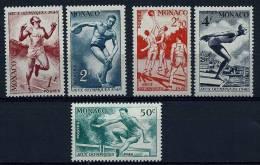 """Monaco YT 319 à 323 """" JO De Londres """" 1948 Neuf** - Unused Stamps"""