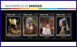 SIERRA LEONE 2017 ** Masterpieces Caravaggio Van Dyck De Heem Vermeer M/S - OFFICIAL ISSUE - DH1710 - Other