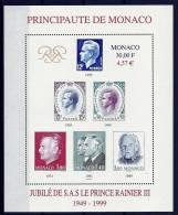 "Monaco Bloc YT 83 "" 50 Ans Règne Rainier III "" 1999 Neuf** - Blokken"