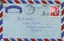HONGKONG 1966 - 50 C Auf AEROGRAMM - Hong Kong (1997-...)