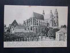 Tours. Cathedrale Saint Gatien Monument Historique), Commencee Vers 1170 - Cour De L'ecole Superieure De Garcons. ND 260 - Tours