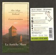 ITALIA - Etichetta Vino GEWURZTRAMINER Doc 2003 Cantina BZ 101 Bianco Del TRENTINO-ALTO ADIGE - Vino Bianco
