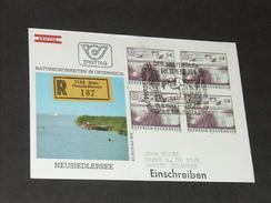 FDC Ersttag 13.8.1984: Naturschönheiten In Österreich - Neusiedler See RECO - FDC