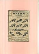 FRANCE  87 . LIMOGES . PUB. CHAUSSURES HAYON POUR FEMMES . ANNEES 1920 . DECOUPEE ET COLLEE SUR PAPIER . - Moda & Accesorios