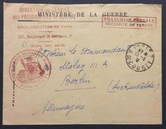 Env DIRECTION DES PRISONNIERS DE GUERRE Vers COMMANDANT STALAG III A Berlin Luckenwalde Aout 1941 - Marcophilie (Lettres)