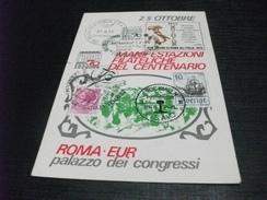 STORIA POSTALE FRANCOBOLLO ITALIA E SVEZIA  ROMA E.U.R. PALAZZO DEI CONGRESSI  ROMA 70 DOPOLAVORO FERROVIARIO ROMA - Mostre, Esposizioni
