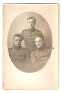 FINLAND - UNIFORMS - Three Soldiers In 1920/1930´s Original Portrait Photo - Guerre, Militaire