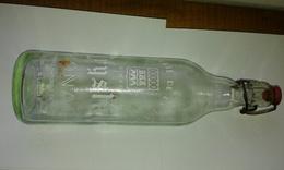 Bouteille 1l En Verre De Limonade Serigraphiée CRYSTAL Limonaderie De La Rance - Soda